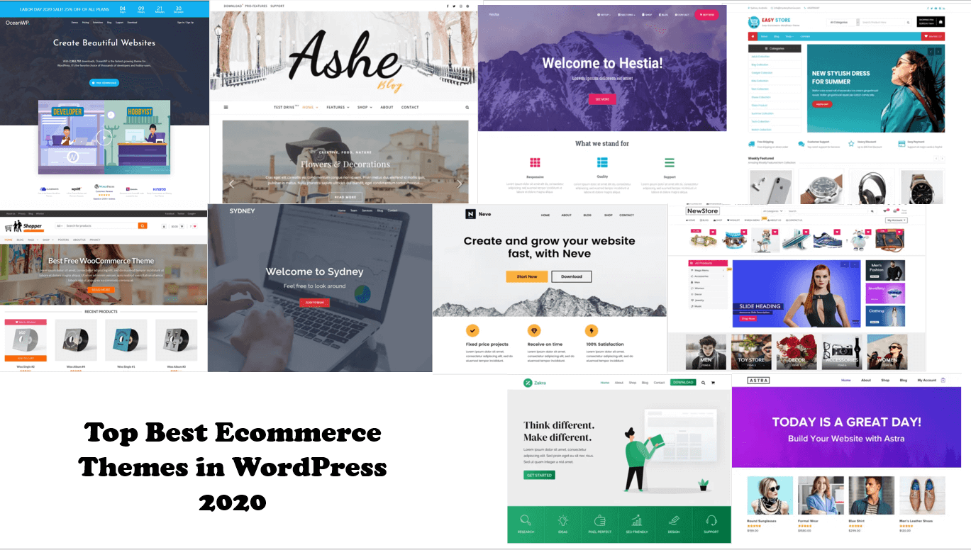 Top Best Ecommerce Themes in WordPress 2020