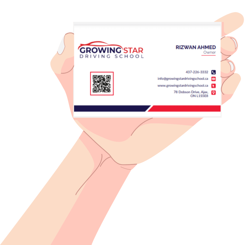 growing star driving school card